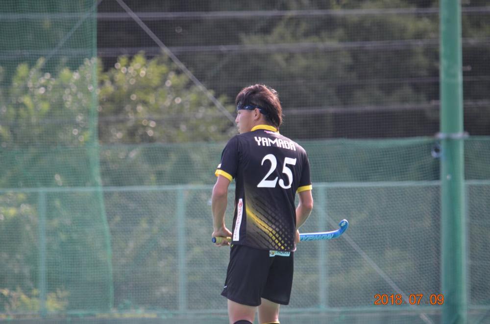 フリックシュートで2得点をあげた山田翔太