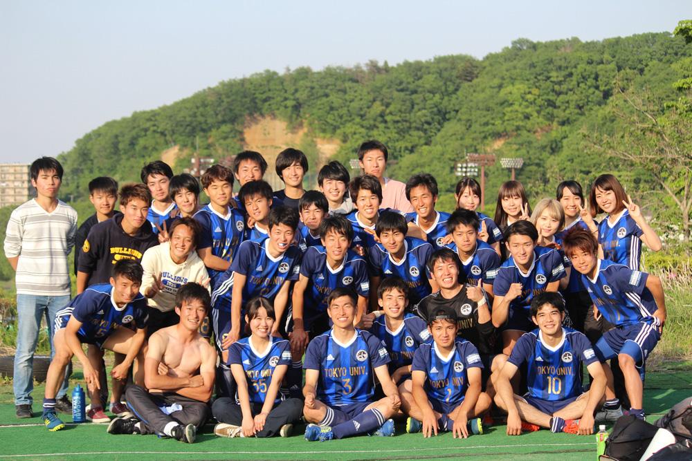 東京農業大学戦勝利後の東京大学。 秋季リーグでのプレーにも期待。