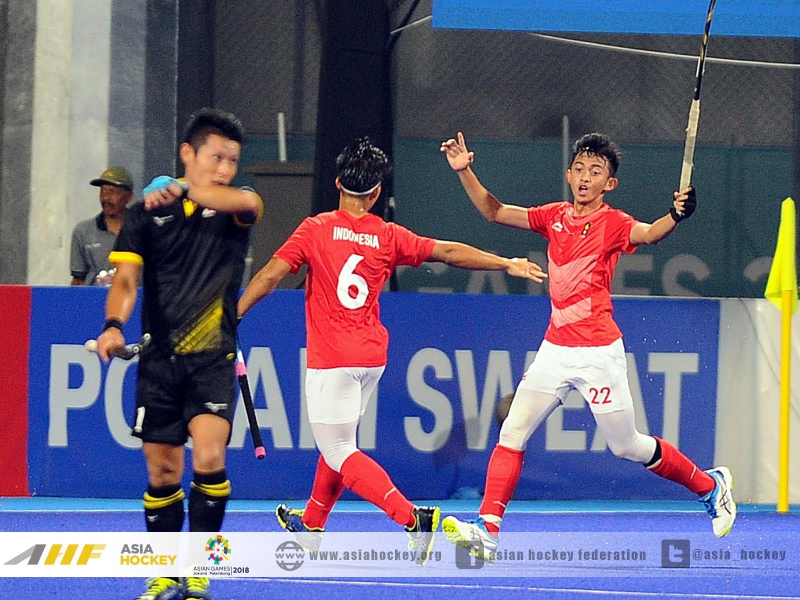 日本に得点を決めたインドネシア選手