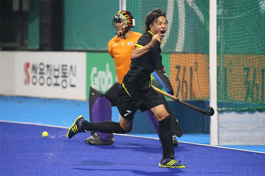 サムライジャパン村田和麻選手。ゴールに期待したい。出典元:https://www.hockey.or.jp/photogallery/