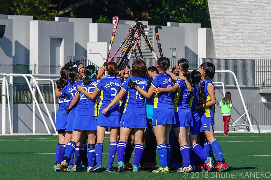 昨季チーム史上初めて1部残留を果たした横浜市立大学。写真/金子周平