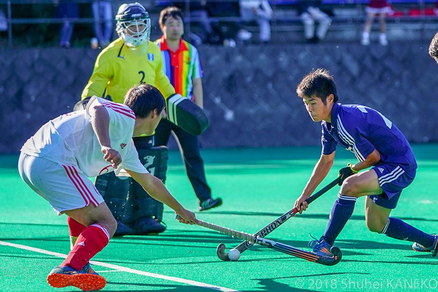 一部昇格を目指す一橋大学が慶應義塾大学に挑む。写真/金子周平