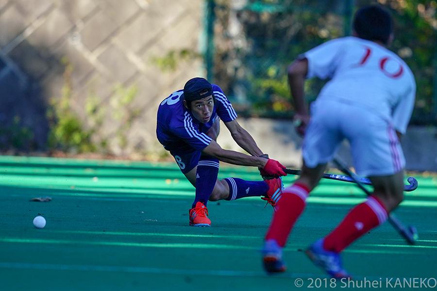 攻守ともに活躍を見せた慶應8番吉川大地選手。