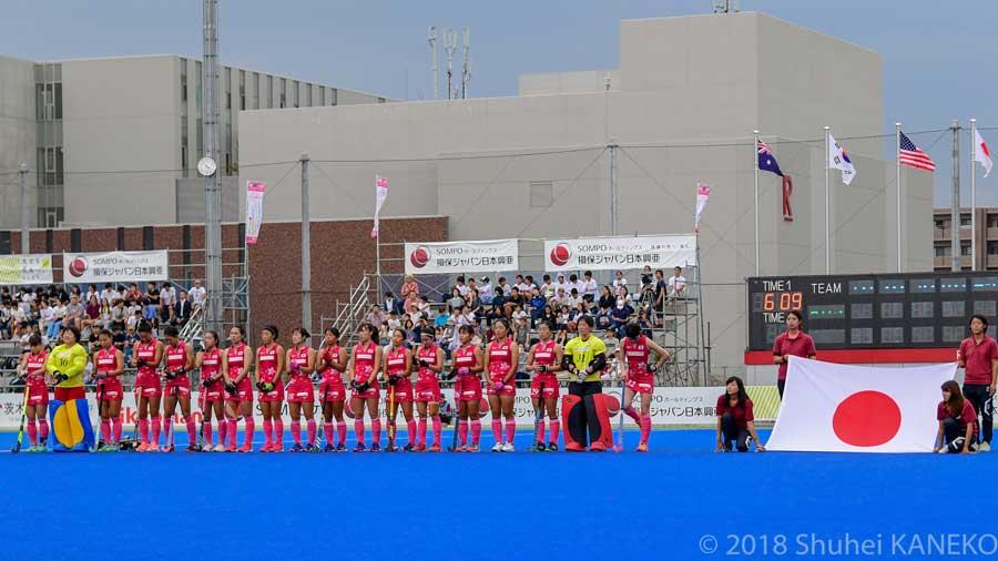 9月に立命館OICフィールドで行われたいばらき4ヶ国大会決勝戦の時のさくらジャパン。写真/金子周平