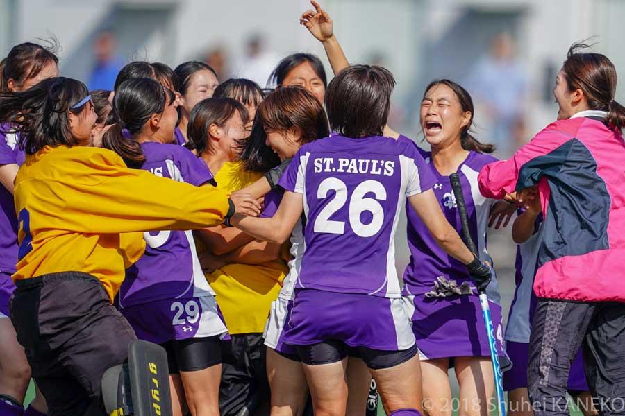 立教大学が2季連続で5位決定戦に勝利するのは初めて。写真/金子周平