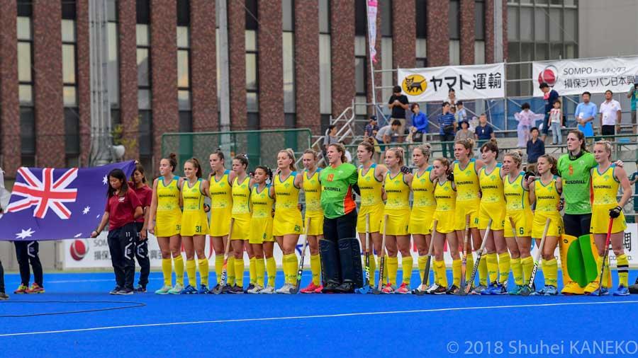 9月のいばらき4ヶ国大会でさくらジャパンはオーストラリアに2-1で勝利。写真/金子周平