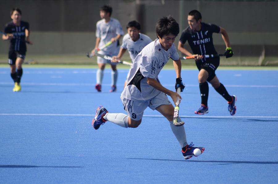 大学王座決勝戦でも活躍を見せた朝日大学9番太田匡亮選手。写真/金子周平