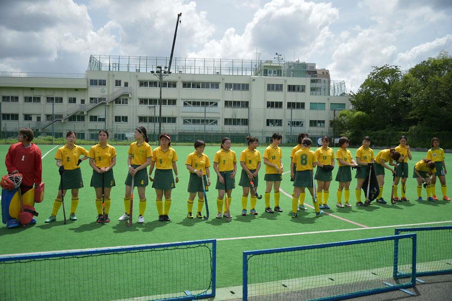 試合前の北海道大学の選手ら。