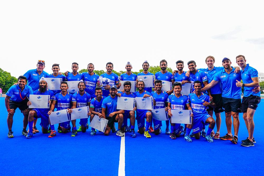 平均年齢23歳のチーム編成で優勝したインド 写真/金子周平